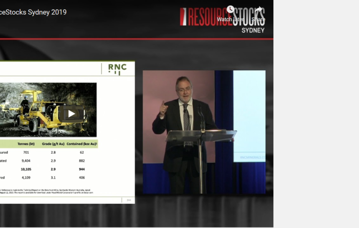 ResourceStocks 2019 video presentation: RNC Minerals