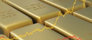 Glittering gold sector shines