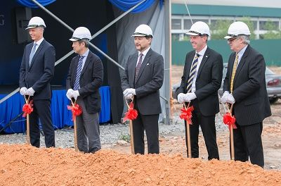 ltech chairman uke tkins right with key stakeholders at the groundbreaking ceremony