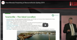 ResourceStocks 2019 video presentation: Pure Minerals