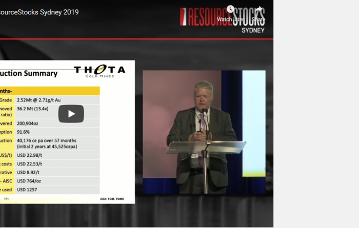 ResourceStocks 2019 video presentation: Theta Gold Mines