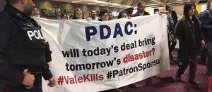 Activists storm PDAC during sustainability session