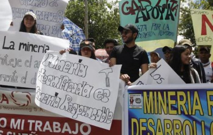 Ecuadorean groups at odds over mining referendum