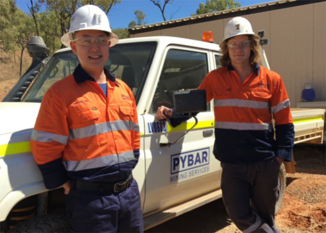 Michael Ma of Mining One and Alan Bermingham, the first PYBAR engineer on a new Skills Exchange Program
