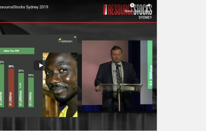 ResourceStocks 2019 video presentation: Cardinal Resources