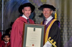 Beament awarded honorary doctorate