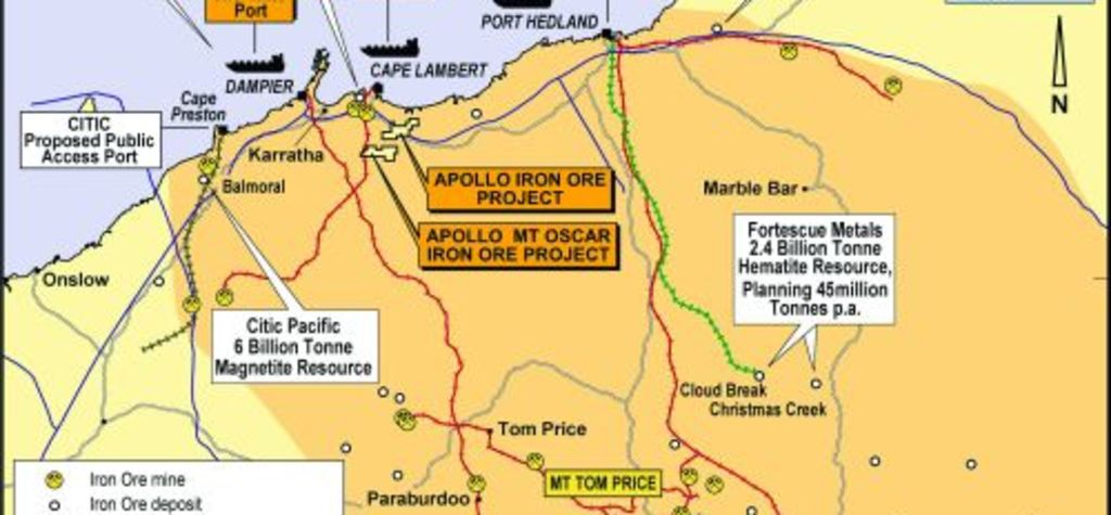 Apollo seeks iron ore deposits