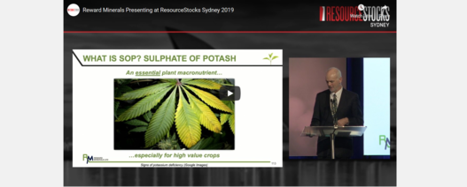 ResourceStocks 2019 video presentation: Reward Minerals Limited